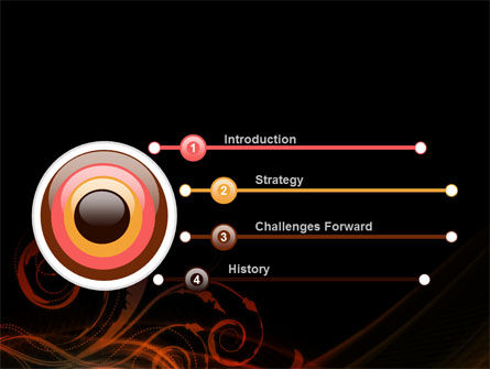 Red Curves PowerPoint Template, Slide 3, 10351, Abstract/Textures — PoweredTemplate.com