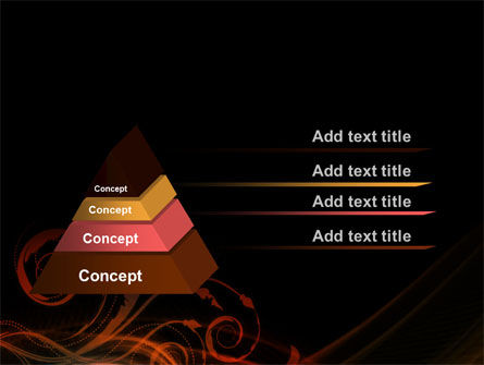 Red Curves PowerPoint Template, Slide 4, 10351, Abstract/Textures — PoweredTemplate.com