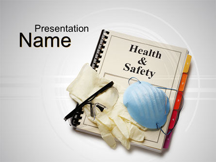 Health and Safety PowerPoint Template, 10352, Utilities/Industrial — PoweredTemplate.com
