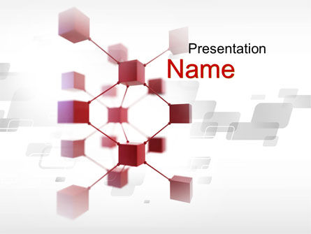 Abstract/Textures: 3D Cluster PowerPoint Template #10353