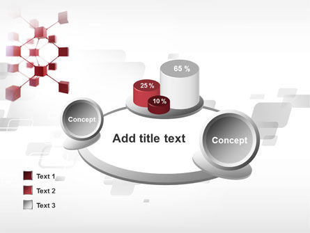 3D Cluster PowerPoint Template Slide 16