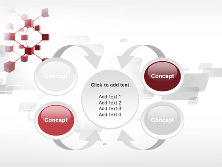3D Cluster PowerPoint Template Slide 6