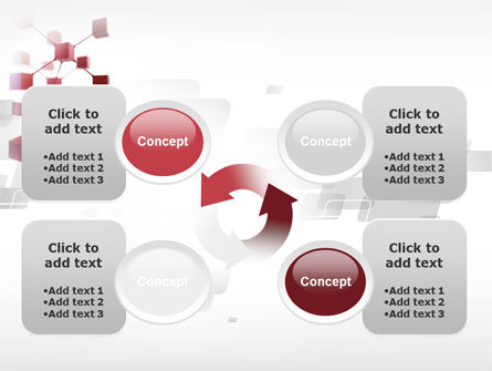 3D Cluster PowerPoint Template Slide 9