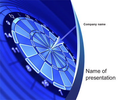 Target Hit PowerPoint Template, 10355, Business Concepts — PoweredTemplate.com