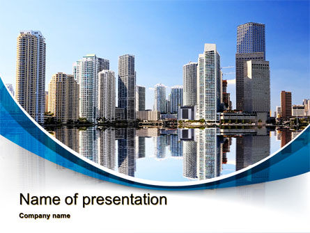 City Reflection PowerPoint Template, 10357, Construction — PoweredTemplate.com