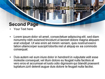 City Reflection PowerPoint Template, Slide 2, 10357, Construction — PoweredTemplate.com