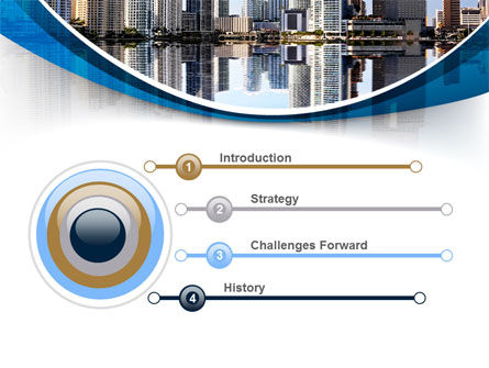 City Reflection PowerPoint Template Slide 3
