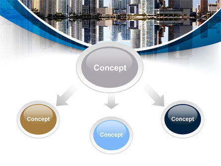 City Reflection PowerPoint Template, Slide 4, 10357, Construction — PoweredTemplate.com