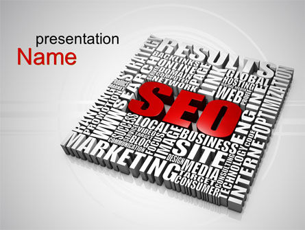 SEO PowerPoint Template, 10358, Technology and Science — PoweredTemplate.com