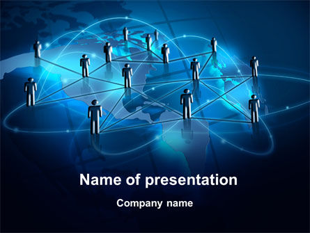 Social Connections PowerPoint Template, 10359, Technology and Science — PoweredTemplate.com