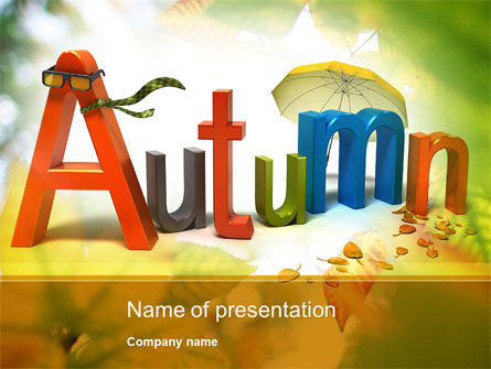 3D Autumn PowerPoint Template, 10360, Nature & Environment — PoweredTemplate.com