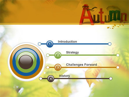 3D Autumn PowerPoint Template, Slide 3, 10360, Nature & Environment — PoweredTemplate.com