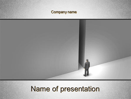 No Alternative PowerPoint Template, 10361, Business Concepts — PoweredTemplate.com