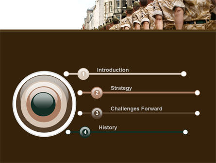Soldiers March PowerPoint Template Slide 3