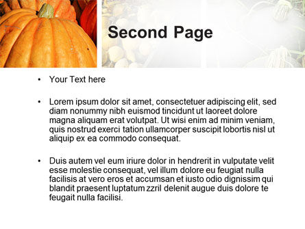 Pumpkin PowerPoint Template Slide 2