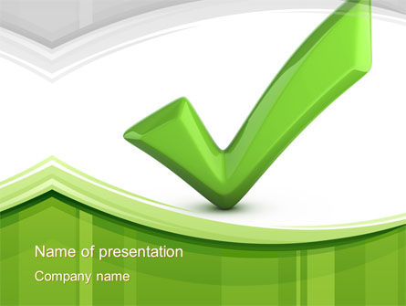 Check Mark PowerPoint Template
