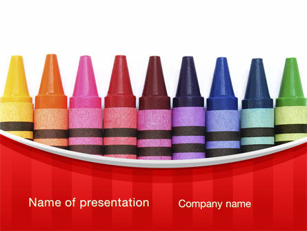 Crayons PowerPoint Template, 10373, Education & Training — PoweredTemplate.com