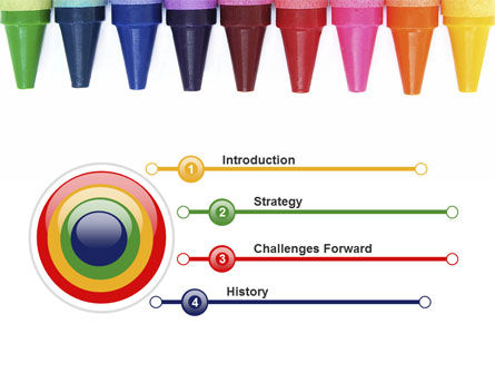 Crayons PowerPoint Template, Slide 3, 10373, Education & Training — PoweredTemplate.com