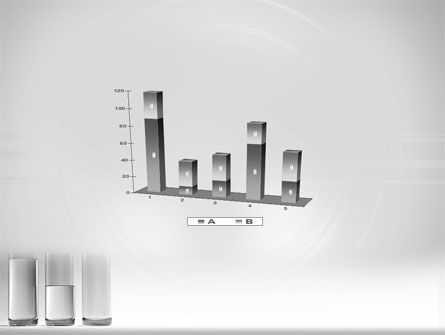Glass Bar Chart PowerPoint Template Slide 17