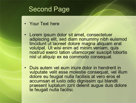 Green Wave PowerPoint Template Slide 2