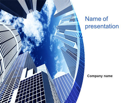 Skyscrapers PowerPoint Template, 10380, Real Estate — PoweredTemplate.com