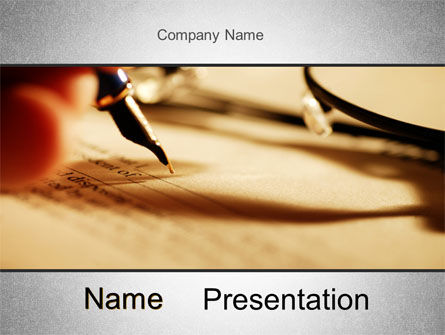 Legal: Agreement Signing PowerPoint Template #10381
