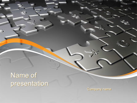 Financial Puzzle PowerPoint Template, 10382, Financial/Accounting — PoweredTemplate.com