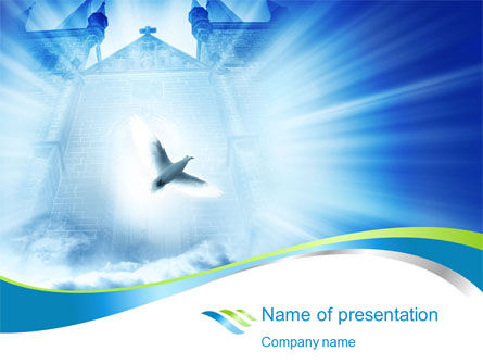 Dove PowerPoint Template, 10384, Religious/Spiritual — PoweredTemplate.com