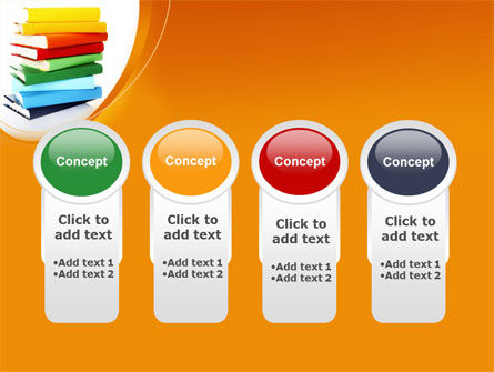 Stack of Books PowerPoint Template Slide 5