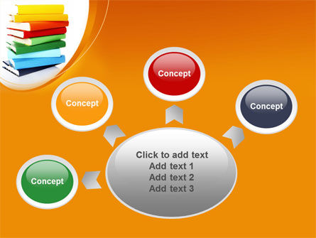 Stack of Books PowerPoint Template Slide 7