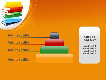 Stack of Books PowerPoint Template Slide 8