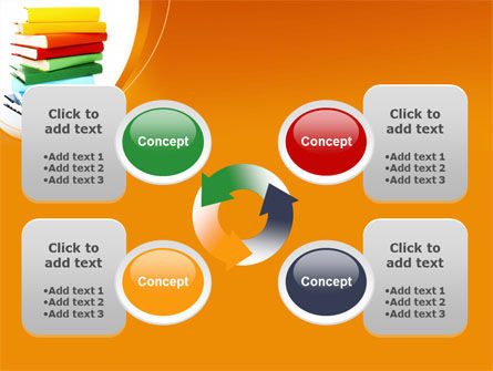 Stack of Books PowerPoint Template Slide 9