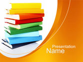 Education & Training: Stack of Books PowerPoint Template #10390