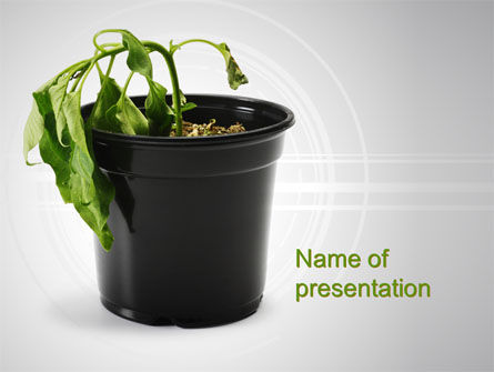 Withered Plant PowerPoint Template