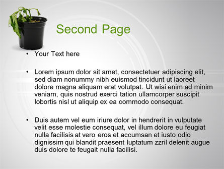 Withered Plant PowerPoint Template Slide 2