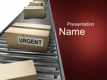 Urgent Delivery PowerPoint Template, 10394, Careers/Industry — PoweredTemplate.com