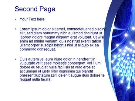 Fiber Bundle PowerPoint Template, Slide 2, 10395, Technology and Science — PoweredTemplate.com