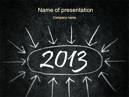Consulting: New Year Brain Storm PowerPoint Template #10396