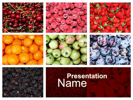 Greengrocery PowerPoint Template, 10397, Agriculture — PoweredTemplate.com