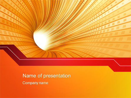 Orange Tunnel PowerPoint Template, 10400, Abstract/Textures — PoweredTemplate.com