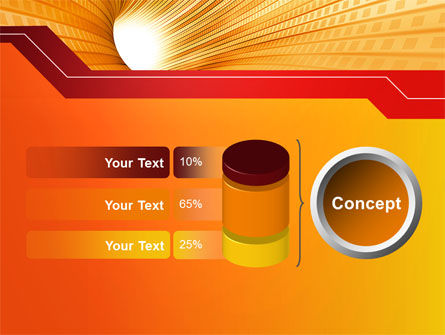 Orange Tunnel PowerPoint Template Slide 11