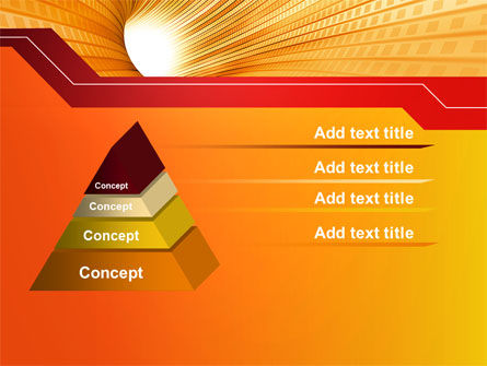 Orange Tunnel PowerPoint Template Slide 12