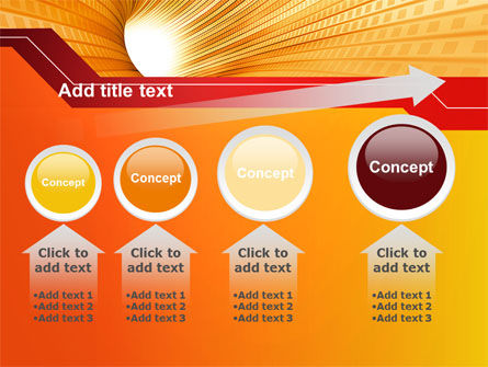 Orange Tunnel PowerPoint Template Slide 13