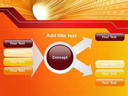 Orange Tunnel PowerPoint Template Slide 14