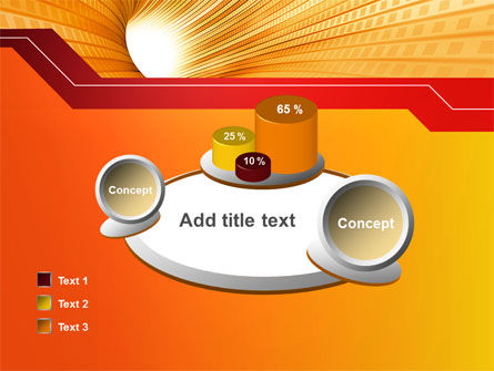 Orange Tunnel PowerPoint Template Slide 16