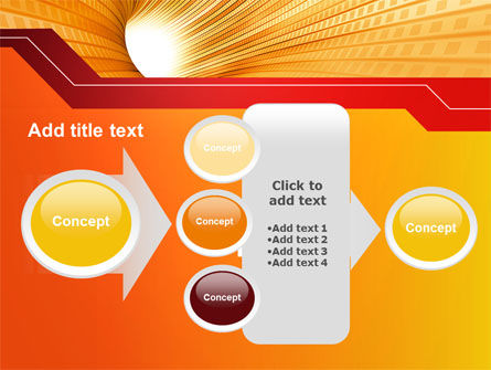 Orange Tunnel PowerPoint Template Slide 17