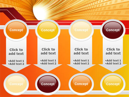 Orange Tunnel PowerPoint Template Slide 18