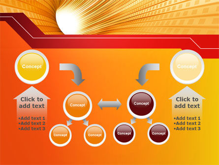 Orange Tunnel PowerPoint Template Slide 19