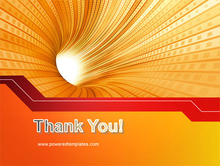 Orange Tunnel PowerPoint Template Slide 20