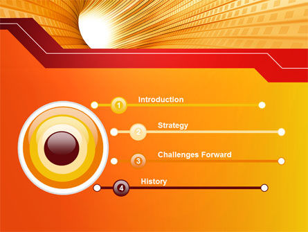 Orange Tunnel PowerPoint Template, Slide 3, 10400, Abstract/Textures — PoweredTemplate.com